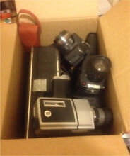 Box of Vintage Cameras and Acessories Richmond Hawkesbury Area Preview