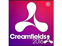 2x CREAMFIELDS GOLD 3 DAY CAMPING TICKETS