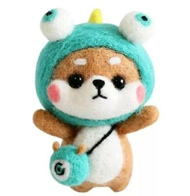 DIY Kawaii Cute Wool Needlefelt Shiba Inu with Monster Costume Kit ~ Dog