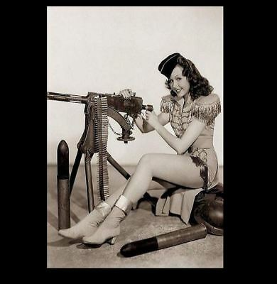 Sexy Pin-up Girl PHOTO World War 2 WW2 Pinup US Army