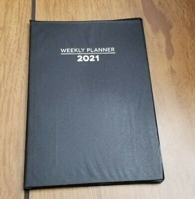 2021 Weekly Planner Calendar Appointments 5 14 X 7 12 Black Vinyl Cover