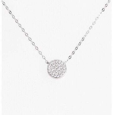 Nadri Geo Small Pendant Necklace Silver Tone
