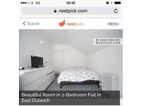 A huge double room to rent in a 2 bedrooms flat