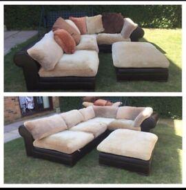 Lovely designer Linda Barker leather sofa can deliver