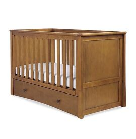 Mothercare cot bed and changing unit chest of drawers