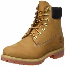 MEN'S TIMBERLAND BOOTS 6 INCH PREMIUM WATERPROOF 10061 WHEAT NUBUCK