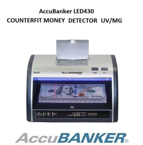 Accubanker D430 Fake Counterfeit Bill Money Cash Card Detector LED UV Store Shop
