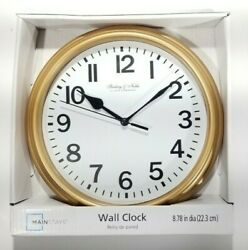 Mainstays 9in Wall Clock Battery Operated *NEW*