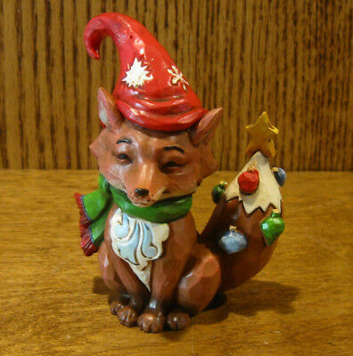 Jim Shore Heartwood Creek Minis #4058808 CHRISTMAS FOX, 3.75