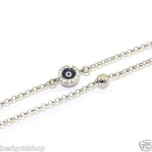 Fancy-Dark-Blue-Evil-Eye-Cubic-Zirconia-Bead-Bracelet-925-Sterling-Silver-7-8