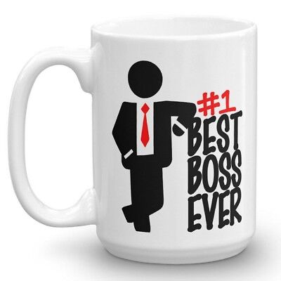 BEST BOSS EVER 15 OZ Funny Coffee Mug #1 Boss Christmas Gift Idea Male