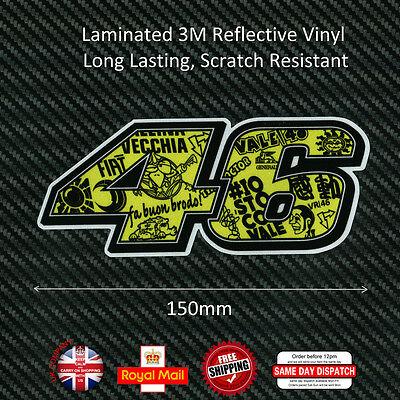 Valentino Rossi VR 46 Graffiti Laminated 3M Reflective Decals Sticker 150mm F269