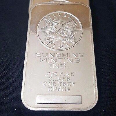 1 Troy Ounce Silver Sunshine Inc. Mint Bar .999 Fine Silver