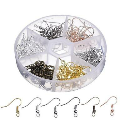 120 Pieces Earring Hooks Ear Wires French Hooks Hypoallergenic Stainless -