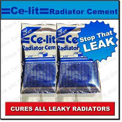 2x Ce Lit Ce-lit Celit Car Radiator Rad Engine Cooling System Stop Leak Sealant