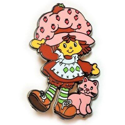 Strawberry Shortcake 80's Cartoon Toy Hat Jacket Tie Tack Lapel - Strawberry Shortcake Cartoon