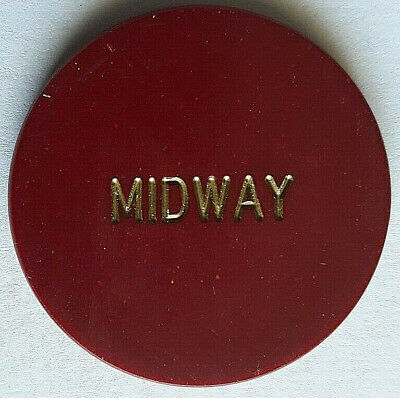 """Midway Casino """"LARGE LETTERS"""" Was On Boulder Highway -PITTMAN NEVADA Casino Chip"""