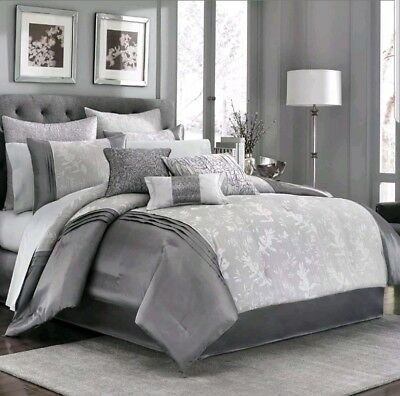Manor Hill Haven Cloud  Euro Sham Quilted Silver :/Gray (Hill Quilted Sham)