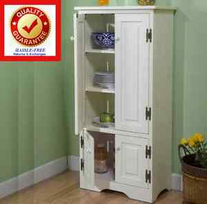 Kitchen Pantry Storage Cupboard Cabinet Food Storage Organizer   White
