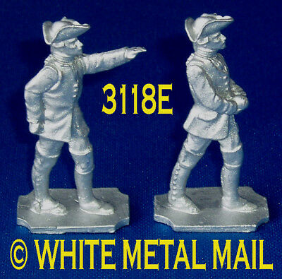 RUSSIAN Bombardier 40mm Casting Set 3118E 7 Years War Officer & Crewman + Round