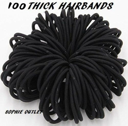Girls 100Pcs Baby Elastic Hair Bands Ponytail Holder Bobbles Head Rope Ties