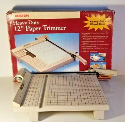Boston 2612 Paper Cutter 12 Trimmer Heavy Duty Guillotine Picture Crop