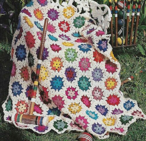 SPRING GARDEN AFGHAN CROCHET PATTERN INSTRUCTIONS