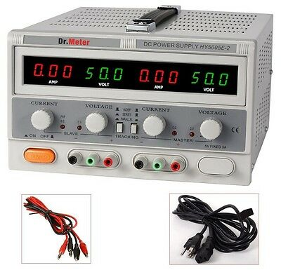 Switching Dual Linear Dc Power Supply 50v 5a Digital Regulated Lab Grade New