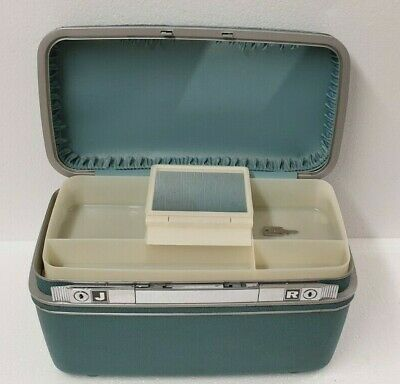Rare Vintage Samsonite Silhouette Hard Makeup Vanity Case with Key