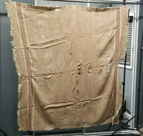 ANTIQUE PRE 1875 HOMESPUN BLANKET WITH NOTE OF OWNERSHIP