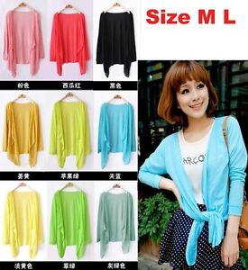Korea-Irregular-Long-Sleeve-Thin-Soft-Open-Cardigan-Knit-Jacket-Sweater-Top-M-L
