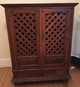 Balinese style TV entertainment unit Artarmon Willoughby Area Preview