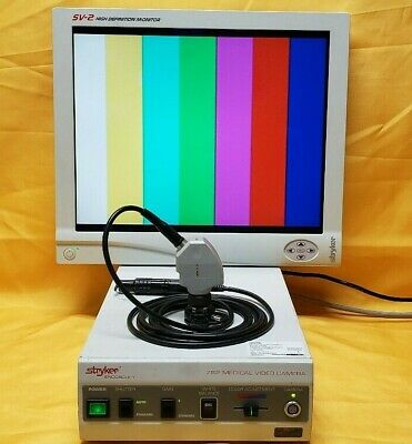 Stryker 782 Video 3 Chip Camera System With Sv-2 High Defination Monitor 19