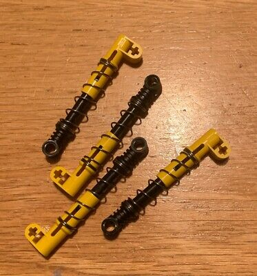4x Lego Technic Yellow Shock Absorber Hard Suspension Spring  95292c01