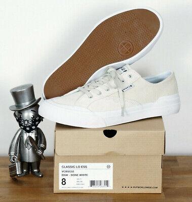 Bone Suede Schuhe (Huf Worldwide Footwear Skate Schuhe Shoes Classic Lo Bone White Suede 10,5/44)