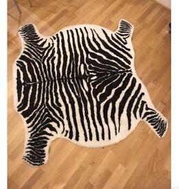 Abigail Ahern style IKEA Zebra print rug