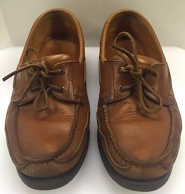 Mephisto Spinnaker Boat Deck Brown Leather Loafers Casual Shoes Men