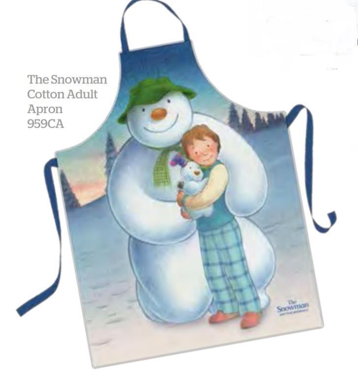 Samuel Lamont UK Raymond Briggs The Snowman Adult Cotton Apron Gift Packaged