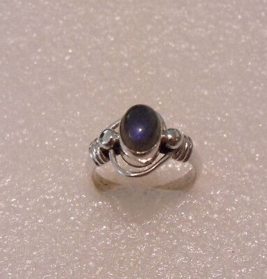 MARVELOUS STERLING SILVER 925 WIREWORK MOONSTONE RING SIZE (Silver Wirework Ring)