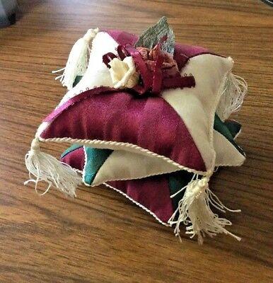 "Victorian Style Pin Cushion, 4"" x 4"" x 4"""