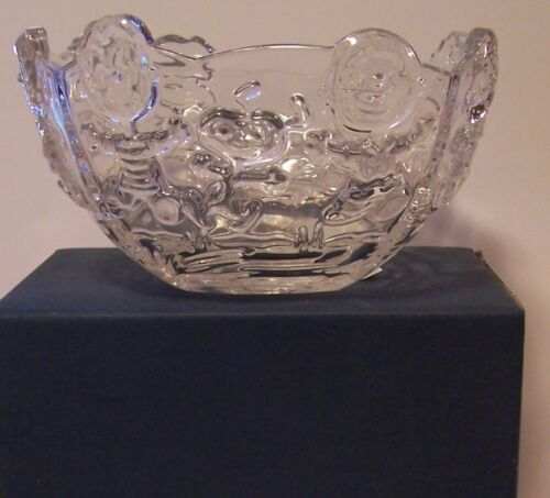 Snoopy Waterford Crystal Bowl Marquis Peanuts Charlie Brown Linus Lucy Franklin