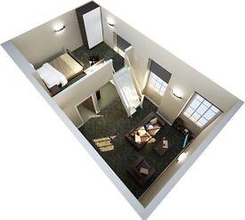 Mezzanine loft studio in Exeter Centre