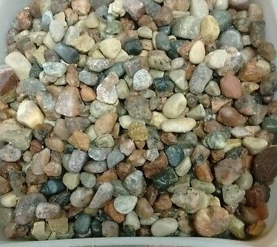 Natural Beauty -10 lbs Aquarium Fish Tank Gravel, Tiny 1/8 In Pebble color rocks