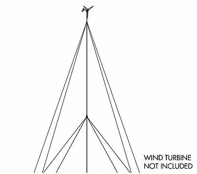 Sunforce 30 ft. Wind Turbine Tower Kit Turbine Generator Stand Outdoor Yard Home