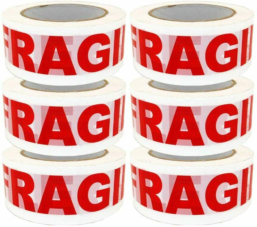 Fragile Tape Sealing Tape Packing Printing Tape-2 Inch x 330 Ft 110 Yards-6X Business & Industrial