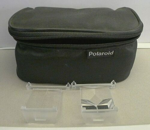 Polaroid IMPULSE Camera Effects Filters P101 & P105 with Padded Zipper Case RARE