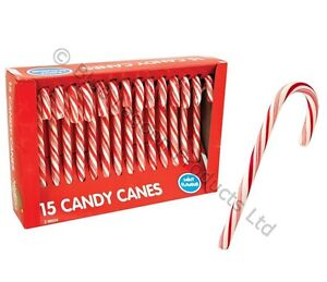 30 x Christmas Tree Peppermint Candy Canes Decoration Sweets Box Gift Stocking