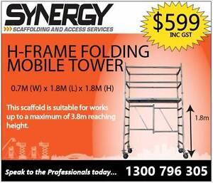 Foldable H-Frame Scaffold (1.8m High) -  Synergy Scaffolding Peakhurst Hurstville Area Preview
