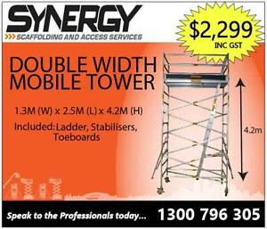 1.3m x 2.5m x 4.2m ALUMINIUM MOBILE SCAFFOLD Parramatta Parramatta Area Preview