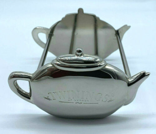TWININGS/CARR COOKIES SILVER PLATED TEA BAG HOLDER - PRE-OWNED